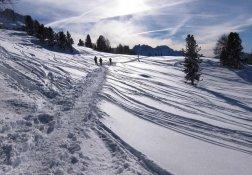 Winterwandern bei Sonnenschein